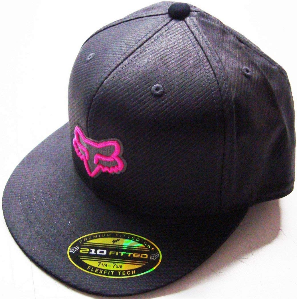 f5165466 Get Quotations · Fox Racing Neon Camo Gray/Black/Pink Flat Brim Flexfit Hat  Large/X