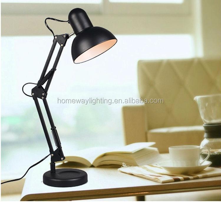 ul cul verstellbare arm arbeitslampe schwarz schmiedeeisen tisch lampe schreibtischlampe licht. Black Bedroom Furniture Sets. Home Design Ideas