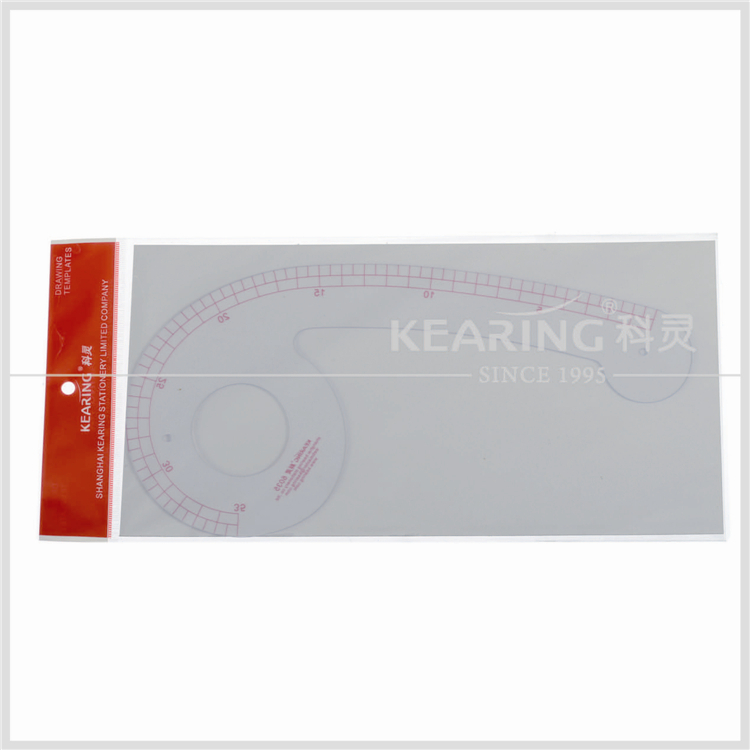 Kearing durable plastic 35cm vary form curve ruler for fashion design neck hole garment ruler