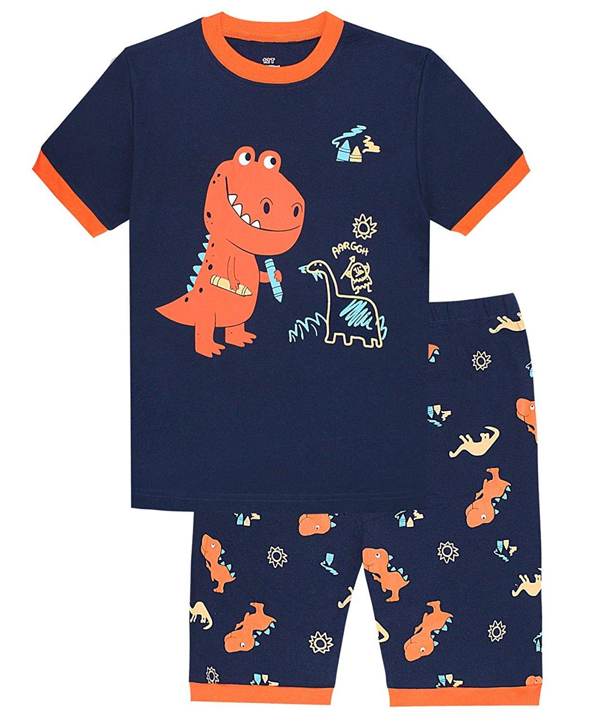 Dolphin&Fish Little Boys Elephant Cotton Short Pajamas Kids Clothes Toddler PJS
