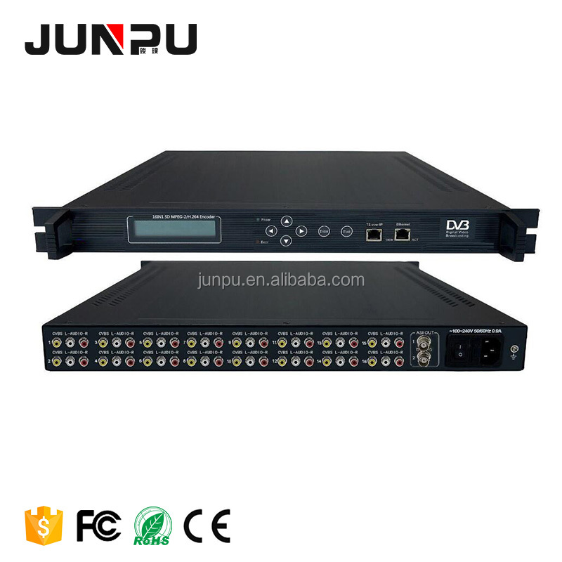 16 canali In Mpeg2 Encoder Video Per Ip Encoder H.264 A 16 * CVBS Video