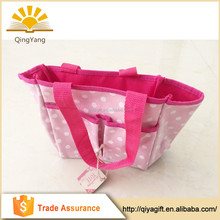 Wholesale reusable foldable handmade cotton with pocket tote shopping bag