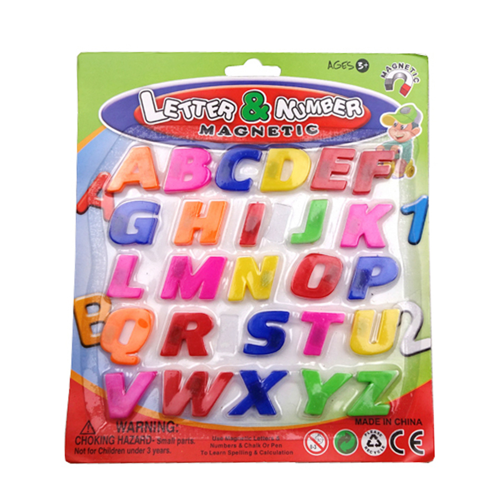 Wholesale- Baby Kids ABC Educational Toy Colorful 26pcs Magnet Fridge  Alphabet Baby Kid Early Learning Educational Toy