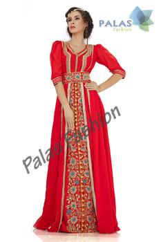 Moroccan Kaftan Dress With Jacket Style - Arabic Caftan Abaya ...