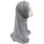 2019 Handmade khimar long hijab instant shawl with lace  for women