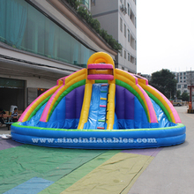 Kids banzai inflatable water slide with big pool made of lead free pvc tarpaulin from China Guangzhou inflatable factory