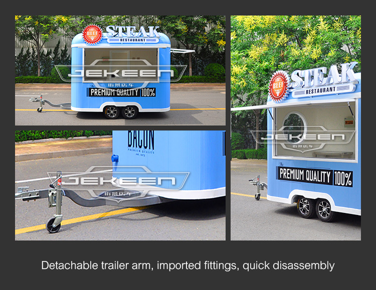 Jekeen mobile food truck food trailer business for sale of BLUES
