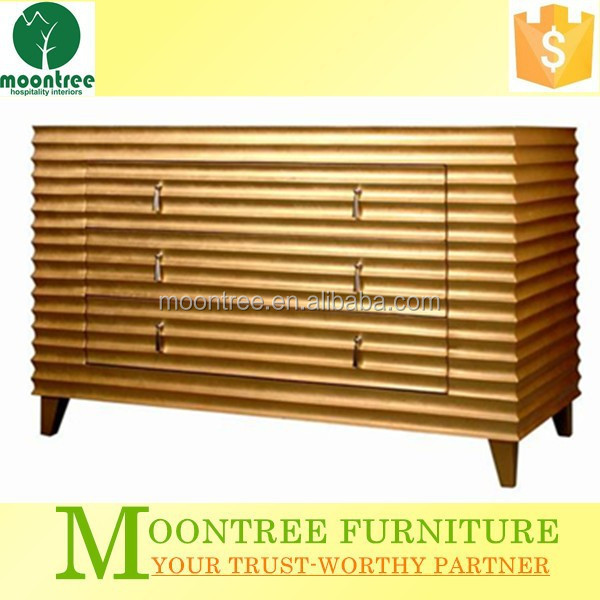 Moontree MCB-1117 china factory gold leaf sideboard display cabinet