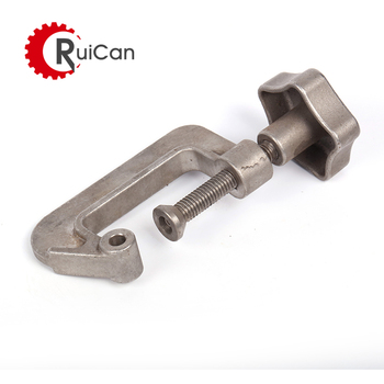 OEM customized custom investment casting stainless steel aluminum titanium process machinery parts  clamp