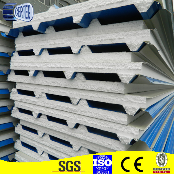 Building materials cheap price eps sandwich roof panel for house kits sip panels