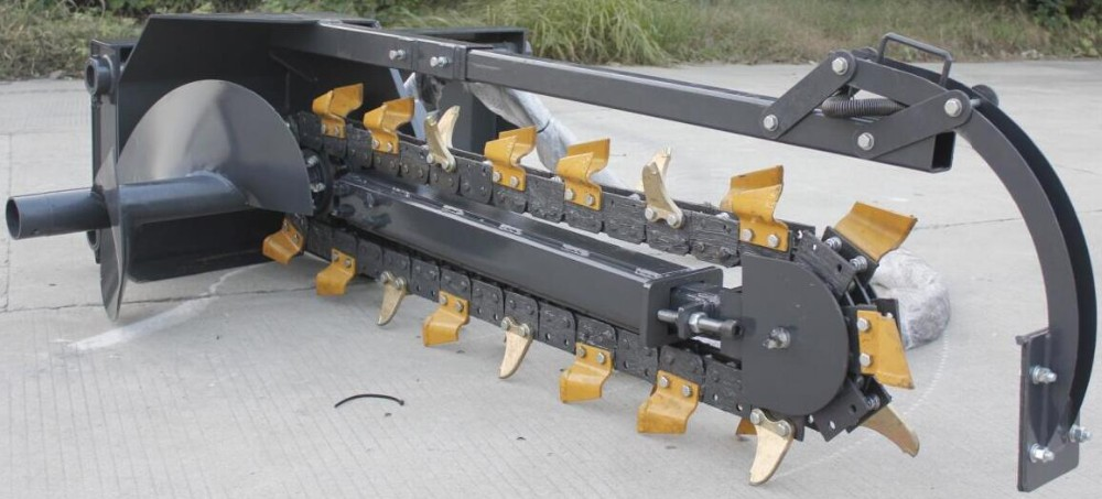 Chinese Supplier Skid Steer Loader Attachment Trencher