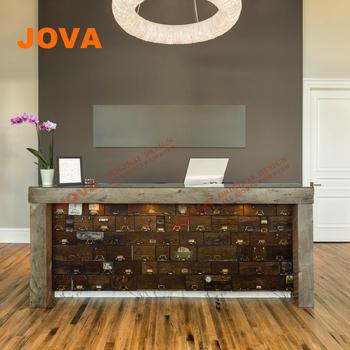 Wooden Modern Black Circular Beauty Salon Furniture Glass Display ...