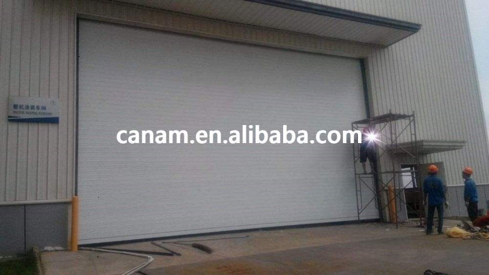 Vertical anti-wind rapid roller shutter door