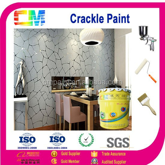 Interior odorless health emulsion multi color cracking coating
