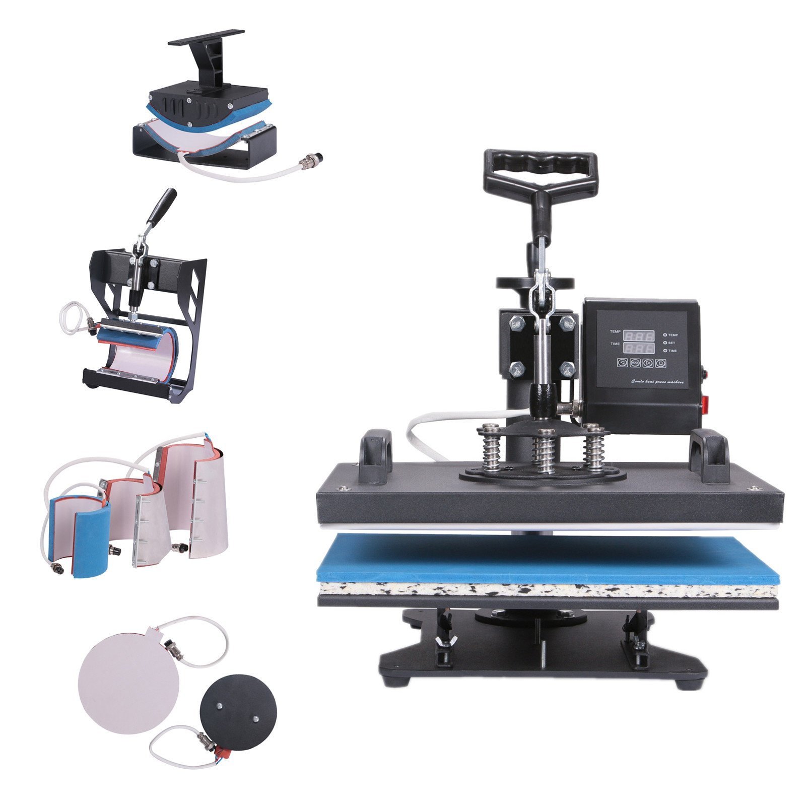 BestEquip Heat Press 8 in 1 Multifunctional T Shirt Heat Press 12x15 Inch Heat Press Machine for T-shirt Hat Mug Plate Cap Digital Control