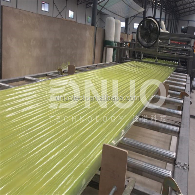 frp roofing sheet making machine corrugated GRP plastic roofing