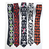 Cheap Horror Skull Print Neck Tie Halloween Party Costume Ties