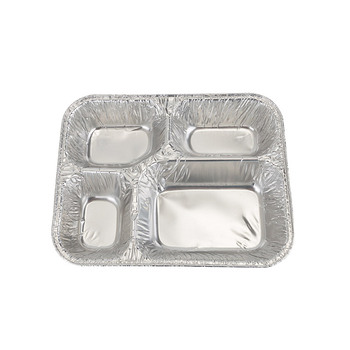 Airline Disposable Aluminum Foil Plates Food Container