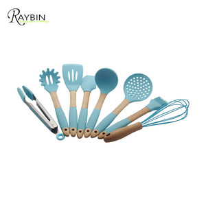 Hot sale Indian silicone wood cooking utensils