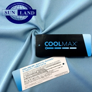 Quick drying coolmax double pique mesh fabric