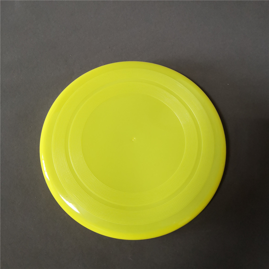 22cm plastic round shape sport flying disc toy