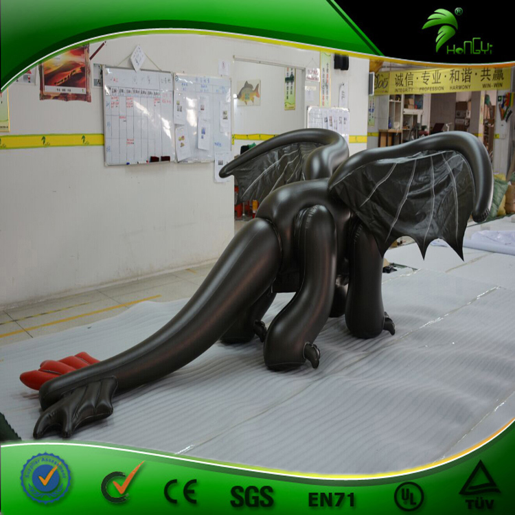 Special Character Inflatable Toothless Suit Double PVC Sealed Black Dragon Inflatable Sex Animal Costume with SPH