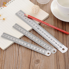 15cm20cm30cm Stainless ruler steel ruler metal ruler with one hole