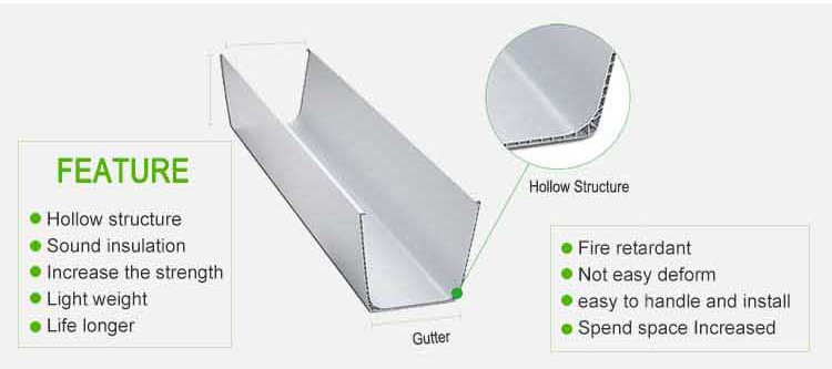 Building material hot sell PVC rain water gutters guard