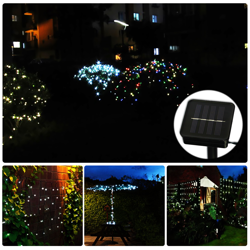 200 LED Solar Light Lighting For Garden Christmas Party
