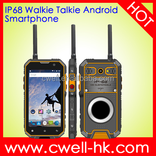 walkie talkie with sim card Huadoo HG05 IP68 Waterproof rugged phone