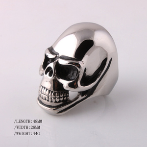 BUYEE Biker Rings BAD ASS Big Heavy Skull Punk Ring Party Fashion Retro Antique Accessories