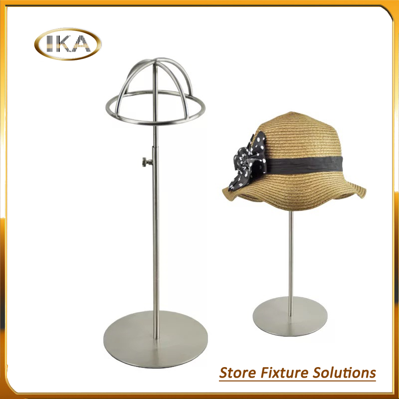 Unique adjustable stainless steel hemisphere hat stand display