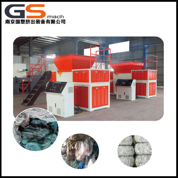 Chinese manufacture plastic film, cardboard, scrap metal, used tire, animal bone, hand operated shredder