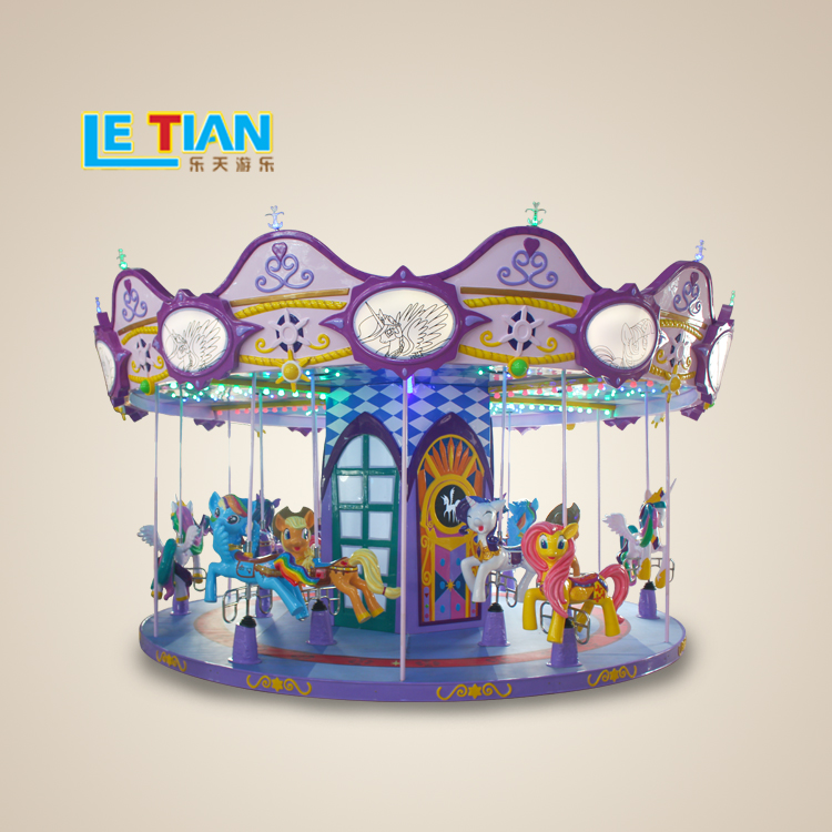 Outdoor Amusement Park Equipment Luxury Children Double Carousel for Sale