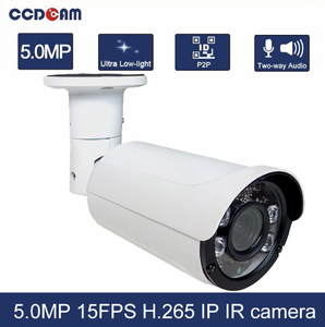 Cost effective 5MP 40 meter IR distance 4/6mm 5MP Fixed Lens Motion Detection waterproof IP camera