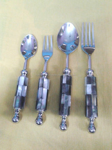 4 Pcs English cutlery set with Mother of Pearl handle decoration