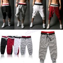 Men Sports Pants Harem Training Dance Baggy Jogger Casual Trousers Shorts Slacks