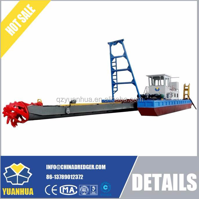 China suction sand cutter dredger hydraulic system operation