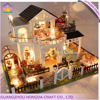 Affordable Light House Wooden Craft Diy Kid Craft Doll House Craft