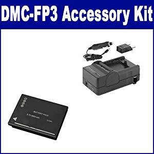 Panasonic Lumix DMC-FP3 Digital Camera Accessory Kit includes: SDM-1521 Charger, SDDMWBCH7E Battery