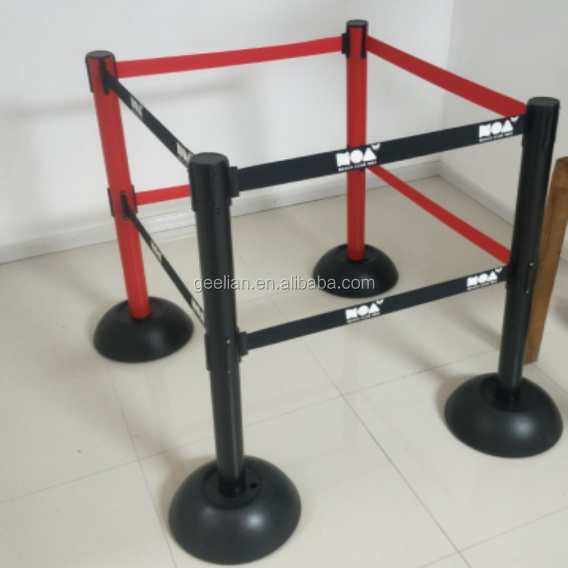 High Quality Steel Stanchion Rope Red Queue Line Barrier