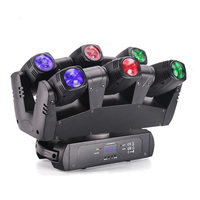Sound active dmx 6*10W RGBW Club DJ led six shooter beam moving head light