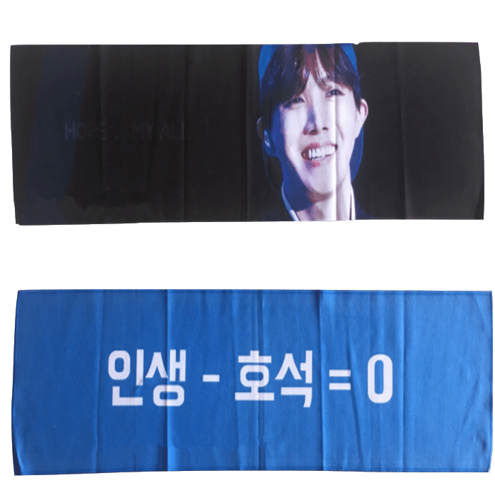 Custom Made Double Sided Printed Microfiber Bts Kpop Slogan Towel - Buy  Microfiber Slogan Towel,Bts Slogan Towel,Kpop Slogan Towel Product on