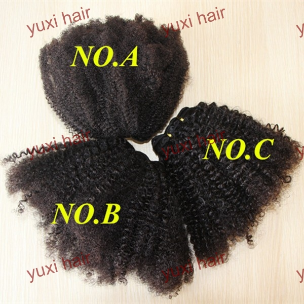 100%virgin human hair natural black afro puff kinky curly trawstring ponytail