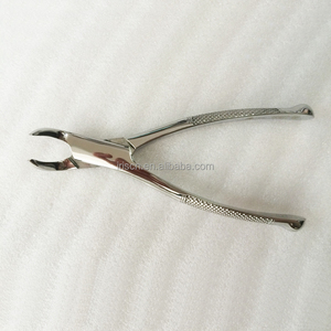 Lower root extraction forceps named of dental instrument with promotion