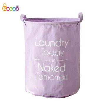 Encai Foldable Sundries Storage Basket Waterproof Purple Laundry Baskets