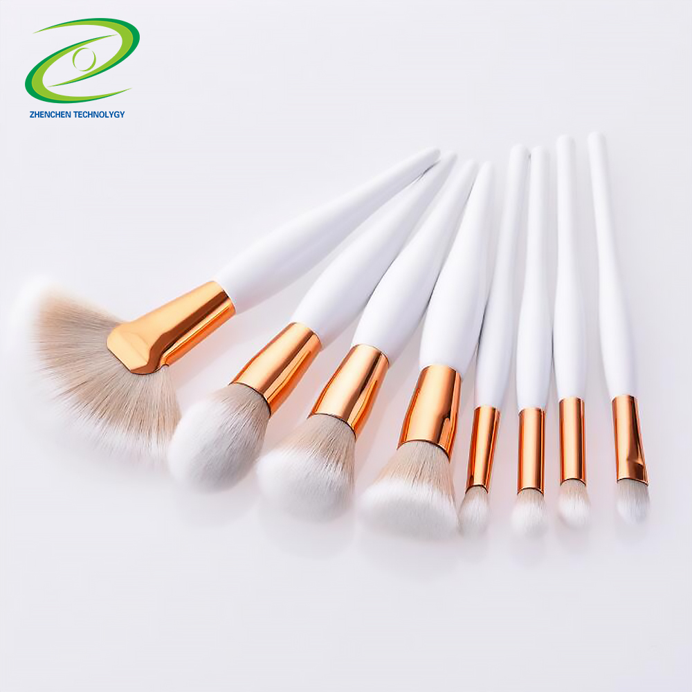 UONOFO oem private label trucco professionale brush set bianco personalizzato nudo make up brush set