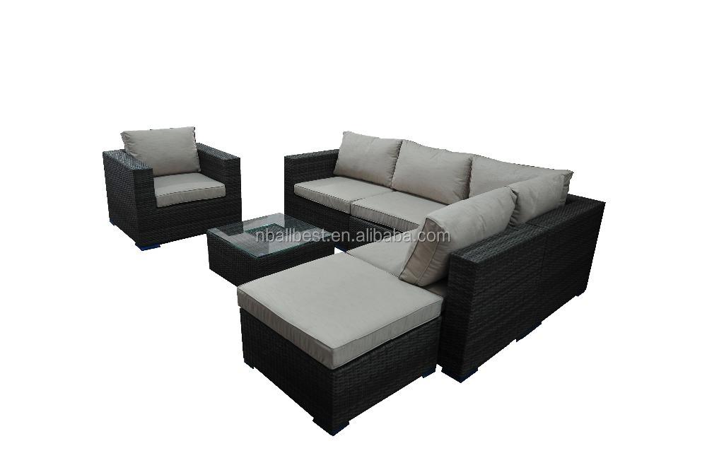alta calidad barato muebles de mimbre de jardn de ratn sof seccional