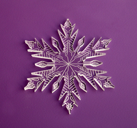 Clear Acrylic Laser Cut Engraved Snowflake Decoration Gift Ornaments