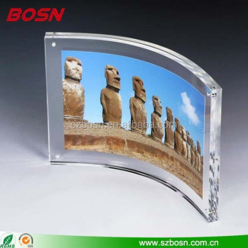 7 x 5 High Quality Clear Acrylic Magnetic Picture Frame
